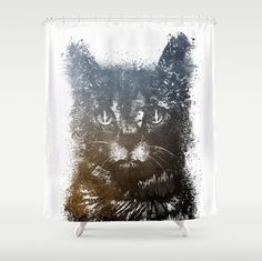 Cat Shower Curtain Shower Curtain Cat Bathroom Decor By Jbjart