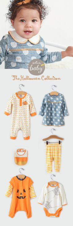 From elegant sugar skulls to quirky creepy crawlies, our Hallmark artists have been hard at work to create this boo-tiful little collection for baby, toddler and even bigger boys & girls! Dresses, rompers, sleepers, hats, bibs & tops & tee's. So much cuteness! Come take a peek! Exclusively at Hallmark Baby.com