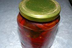 Cei mai buni ardei capia pentru iarnă Canning Pickles, Pickels, Romanian Food, Preserves, Pantry, Salsa, Deserts, Frozen, Food And Drink