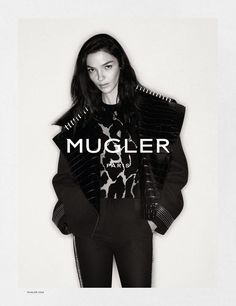 Mariacarla Boscono Stars in Mugler Fall Winter 2016.17 Campaign
