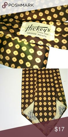 Hickeys Grosse Point classic necktie 100% Silk Hickeys Grosse Point Accessories Ties