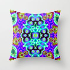 Bent Alv Psy Throw Pillow by EML - CircusValley - $20.00