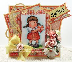 A fun card for spring using Magnolia Stamps and die cuts from http://www.magnoliastamps.us/store2/. more pics and info on my blog http://grammashouseofcards.blogspot.com/2013/03/magnolia-licious-challenge-spring-is-in.html