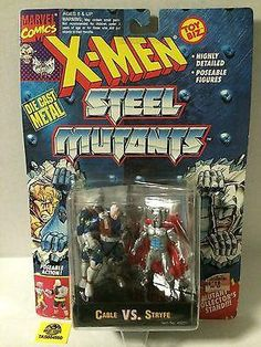 (TAS004560) - 1994 Toy Biz Marvel Comics X-Men Steel Mutants Cable vs Stryfe, , Action Figure, X-Men, The Angry Spider Vintage Toys & Collectibles Store