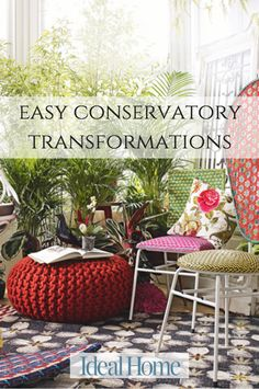 Want to update your conservatory? From wallpaper to furniture, be inspired by our easy garden room transformations. Garden Room, Decor, Conservatory Design, Furniture, Easy Garden, Room Transformation, Home Decor, Ideal Home, Outdoor Furniture Sets