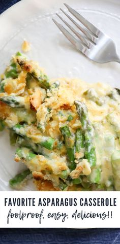 BEST EVER ASPARAGUS CASSEROLE has just ten ingredients, super simple steps, and comes out perfectly every single time! This is the best side dish for thanksgiving, a great christmas casserole, or potluck dish. Easter Side Dishes, Potluck Dishes, Best Side Dishes, Thanksgiving Side Dishes, Vegetable Sides, Vegetable Side Dishes, Side Dish Recipes, Vegetable Recipes, Food Dishes
