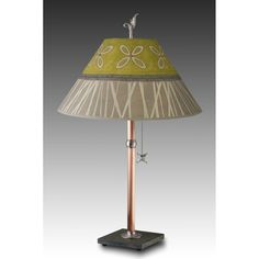Kiwi Table Lamp with Large Conical Shade