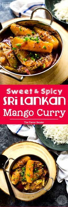 Sri Lankan Mango Curry - An easy curry recipe that is sweet, sour and spicy. Vegan and Gluten free and is absolutely amazing! A Sri Lankan favorite! via @theflavorbender
