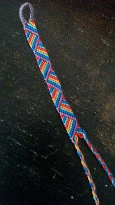 Reverse Candy Stripe Friendship Bracelet