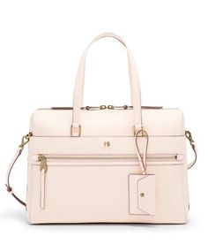 This leather briefcase by Henri Bendel lets everyone know you're a boss babe with a style to match your professional prowess. A satin lined interior gives it a little touch of luxury. Shop leather hanadbags at Henri Bendel. Travel Organization, Leather Briefcase, Boss Babe, Henri Bendel, Luxury, Bags, Style, Fashion, Handbags