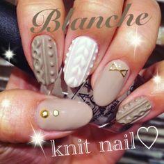 Nail salon Blanche(ブランシュ)|冬のあったかニットネイル♡