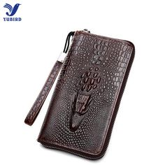 Branded Men Wallets Alligator Men Purse Fashion Male Long Wallet Genuine Leather Man's Clutch Bag Card Holder Coin Purse