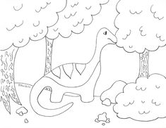 Here Is Our Apatosaurus Coloring Page Based On Applique There Will Be Four Dinosaurs In This Series