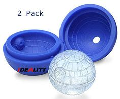 Ideality 2Pack The Death Star Wars Hockey Round Ice Cube Mold Maker Tray Molds Cube Whiskey Cocktails,Ice Mold Keep Your Drink Cold Up-Ice Ball Mold Ideality http://www.amazon.com/dp/B00WLEDDGG/ref=cm_sw_r_pi_dp_QSgsvb1T8B361