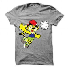 Cartoon tiger playing volleyball - #custom sweatshirts #t shirts for sale. ORDER NOW => https://www.sunfrog.com/Sports/Cartoon-tiger-playing-volleyball.html?id=60505