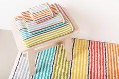 Confetti bath rug. 100% cotton