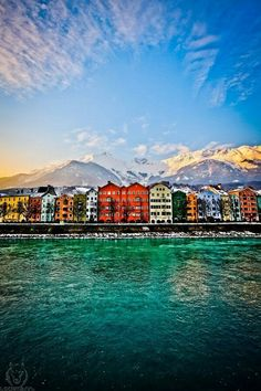 Innsbruck, Tyrol, Austria – Innsbruck is the capital of the Alps and host of two Winter Olympic Games. The medieval city center with its Golden Roof is nestled below the Nordkette Mountain range.