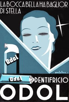 Il dentifricio Odol e le illustrazioni di Bakisfigus - Odol toothpaste and Bakisfigus illustrations