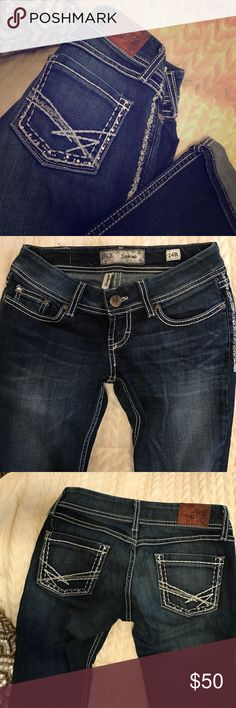 BKE Jeans- Sabrina BKE dark wash, straight leg jeans. Worn only a handful of times, great condition! Can wear cuffed or uncuffed. BKE Jeans Straight Leg