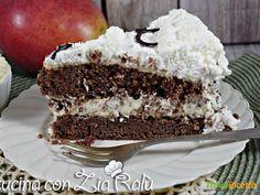 Torta al cioccolato con crema al mango  #ricette #food #recipes