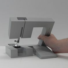 Foldable sewing machines - The machine would be less bulky and awkward to store than conventional machines, and lighter and simpler to take out and assemble. It would include only the basic functions required for alterations and repairs with simplified controls so users wouldn't be daunted or waste time figuring out how to use it.