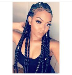What are the box braids? We braid hair since the dawn of time, so we found traces of braided hairstyles dating back to Prehistory! After a dazzling comeback in the the fashion of braids (or rather mats) does not seem… Continue Reading → Feed In Braids Hairstyles, African Hairstyles, Girl Hairstyles, 2 Feed In Braids, Hairstyles 2018, Feed In Braids Designs, Pretty Hairstyles, Black Girl Braided Hairstyles, Oscar Hairstyles