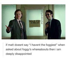Daredevil Matt foggy
