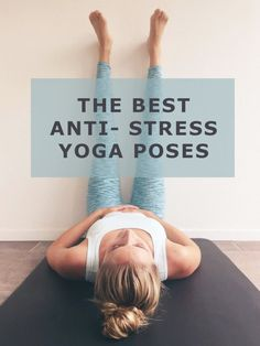 These six yoga poses for stress help you to relax! The first exercise is the Legs up the wall, one of my favorite poses for . Yoga Vinyasa, Bikram Yoga, Kundalini Yoga, Ashtanga Yoga, Yin Yoga Poses, Pilates Training, Yoga Pilates, Yoga Fitness, Fitness Tips