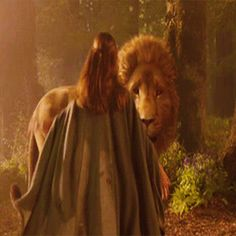 I always enjoy watching Lucy and Aslan relate to each other the moment  they meet in each scene - very heart warming