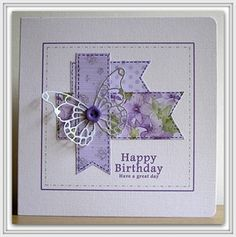 Lilac-mauve filigree butterfly by: Chrissys4cards