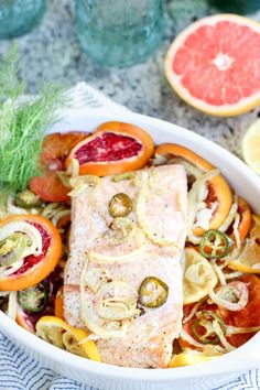 Roasted Salmon with Citrus and Fennel - Beat the wintertime blues with this happy healthy dish!