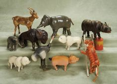 Other People's Lives: 223 Ten American Wooden Circus Animals,Reduced Size,by Schoenhut