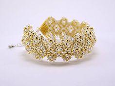 evelyna / Zlatý diamantový náramok