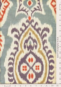 Love how colorful this is and has the gray cream tones too online fabric, lewis and sheron, lsfabrics