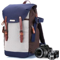 Amazon.com : Camera Backpack with Laptop, Camera Bag for DSLR, Camera Case and Bag for Women Insert, Professional Rucksack Suit for Canon EOS, Nikon, Video Cameras, Lens Kits, Tripods Gadget Bag (Blue) : Camera & Photo