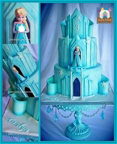 1 million+ Stunning Free Images to Use Anywhere Bolo Frozen, Torte Frozen, Frozen Castle Cake, Disney Frozen Cake, Frozen Theme Cake, Frozen Birthday Cake, Disney Cakes, Birthday Cakes, Minecraft Cake
