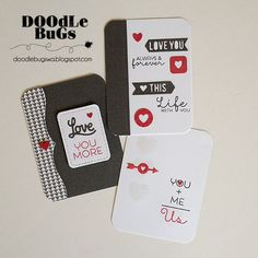 Spotted and admired: One amazing set of Story cards by Doodlebugs, created with Technique Tuesday's Pocket of Love steel dies and All You Needs is Love stamp set.