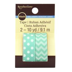 <div>Accent your favor bags, gifts, party invites and other paper crafts with this Washi Tape by...