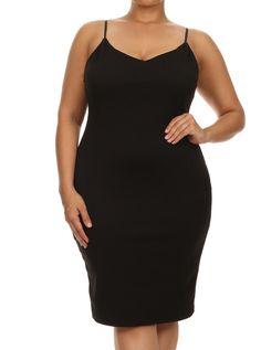 Plus Size Midnight Chevron Print Black Dress – PLUSSIZEFIX