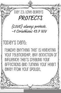 Taush.O: The Love Dare, Day 23