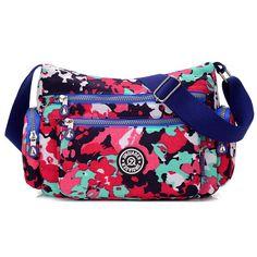 1700d85b9 Waterproof nylon bag messenger bag casual light travel bag multi-colored 15  colors nappy bag