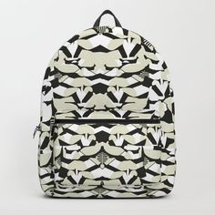 Abstract Geometric Pattern in Constrast Colors Backpack Colorful Backpacks, D Craft, Designer Backpacks, Fashion Backpack, Unisex, Abstract, Colors, Pattern, Bags