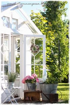 Potting Sheds, Potting Benches, Sunroom, My Dream, Outdoor Gardens, Porch, Home And Garden, Green Houses, In This Moment