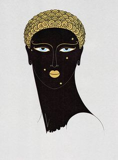 the Queen of Sheba by Erte.  Have always just loved this.