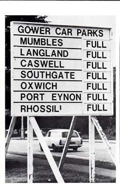 Old Gower Car Parks Sign