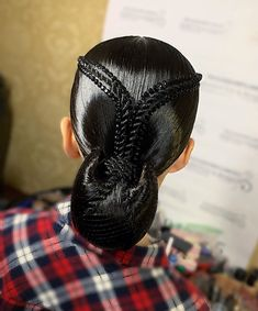Dance Hairstyles, Braided Hairstyles Updo, Wedding Hairstyles, Woman Hairstyles, Updo Hairstyle, Braided Updo, High Bun Hair, Hair Buns, Ballroom Hair