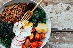 Brown Rice Miso Macro Bowl   vegan and gluten free