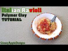 Miniature Polymer Clay Italian Ravioli Tutorial - YouTube