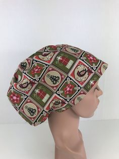 Christmas Gifts Euro Cap – Oksana's Creations Scrub Caps, Drip Dry, Hair Lengths, Different Styles, Making Out, Scrubs, Hand Sewing, Euro, Style Me