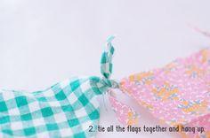 vlaggetjes, niet naaien, geen gedoe